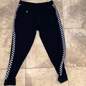 Men's Large black checkered side joggers/pajama